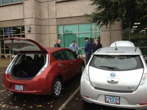 nissan leaf electric vehicle employee event
