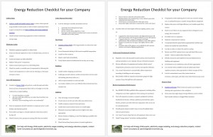 Energy Reduction Checklist for your Company
